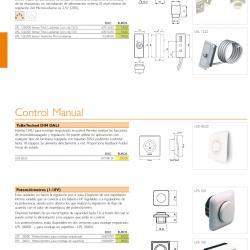 Control Manual LPS 100/00 Potenciómetro para montaje empotrado