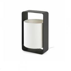Lula P Table Lamp E27 20w Black lampshade beige
