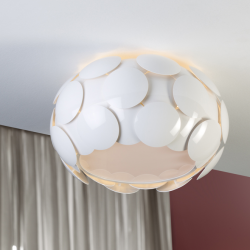 Egea plafonnier ø50 6xE27 LED 10W blanc