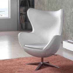 Egg sillón blanc Ecopiel