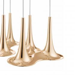 Nafir Pendant Lamp 3 Gu10 LED 3x7,5w Gold rosa
