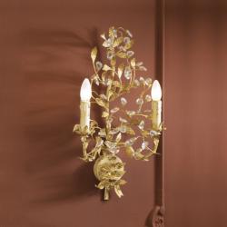 Verdi Aplique Florentino 2xE14 Marfil y pan de oro
