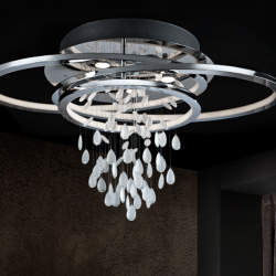 Bruma ceiling lamp Chrome 5L + tira LED 68W Chrome