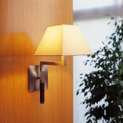 Carlota (Solo Structure) Wall Lamp without lampshade 23cm E27 46w Nickel Piel Oscura
