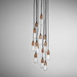 Ilde Wood Max S19 Lámpara Colgante múltiple LED 19x2W (E27) - Madera roble