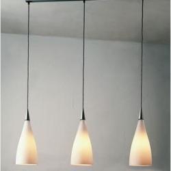 Nite S3 Lámpara Colgante 3x11W E27 - Cristal gris