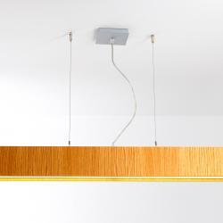 Quadrat S120x120 Lámpara Colgante LED 6x24,8W - Madera wengue