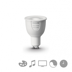 Philips Hue white And Color - Bulb Single Conectada, Casquillo Gu10, Controlable Vía Smartphone, 16 Millones of Colores