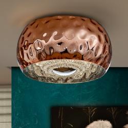 Fluvio Plafón 5x33W LED ø40x23cm - Metal acabado cobre
