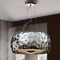 Fluvio Lámpara colgante 6x33W LED ø50x25cm - Metal acabado cromo