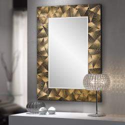 Sima Espejo 80x120x1,6cm - Marco negro y pan de oro