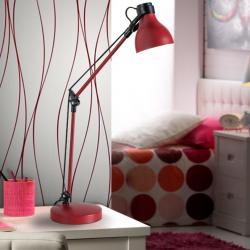 Neo Sobremesa LED 60W 33x60x14cm - Rojo y negro