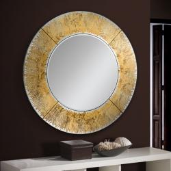 Aurora Espejo redondo ø100x100cm - Pan de oro