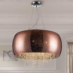 Caelum Lámpara colgante LED 6x33W ø50x5cm - Cromado, cobre espejo, transparente