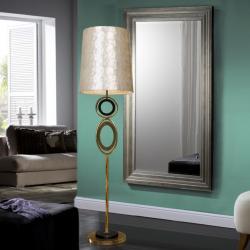 Edén Lámpara de pie LED 60W ø42x164cm - Pan de oro y negro, nácar