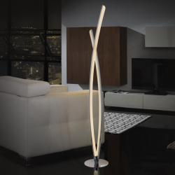 Linur Lámpara de pie LED 25,40W ø22x131cm - Cromado y opal