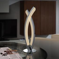 Linur Sobremesa LED 8,10W ø11x40cm - Cromado y opal