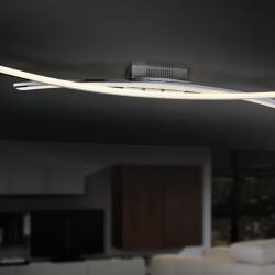 Linur Plafón LED 20W 103x6x17cm - Cromado y opal