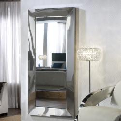 Amberes Espejo 90x190x7cm - Espejo plata, acero brillo