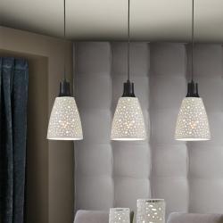 Contra Lámpara colgante 3x20W LED 66x30x17cm - Negro y blanco