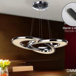 Anisia Lámpara colgante LED 50,4W ø71x7cm - Cromado y transparente