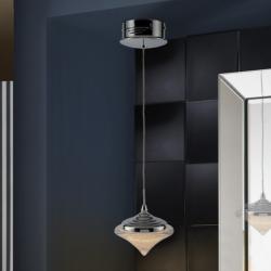 Zoe Lámpara colgante LED 4,8W ø14x11cm - Cromado y transparente con textura