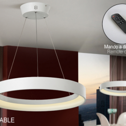 Cronos Lámpara colgante LED 38W ø60x7cm - Blanco mate texturizado