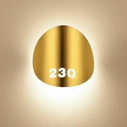 Lune Aplique de pared LED 10W Oro