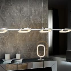 Órbita Lámpara Colgante 4x21,6W LED Cromo