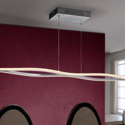 Énia Lámpara Colgante LED 21,6W Cromo