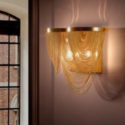 Minerva Aplique 2L 2xG9 LED 6W Baño de oro