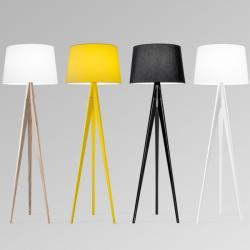 Triana (Solo Estructura) Lámpara de Pie sin pantalla E27 70W Amarillo