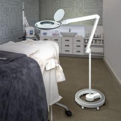 Lupa Flexo de pie LED 8W Blanco