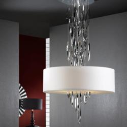 Domo Lámpara colgante Ø60cm 4xE14 LED 4W Cromo brillo