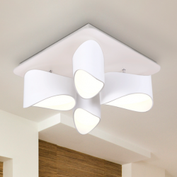 PLAFON 4L LED·LIDIA·BLANCO