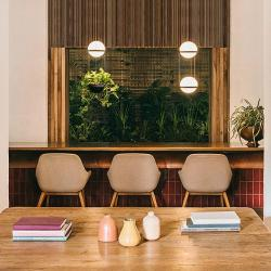 Palma Lámpara Colgante 2 × Led - Lacado blanco mate