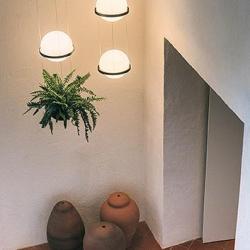 Palma Lámpara Colgante 4 × Led - Lacado grafito mate