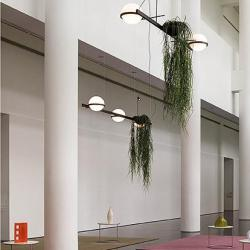 Palma Lámpara Colgante 6 × Led- Lacado blanco mate