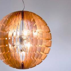 Helios 60 Lámpara Colgante E14 7x60w Madera