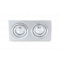 Plano 2 Lamp Recessed 2xGU10 8W Grey