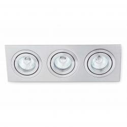 Plano 3 Lamp Recessed 3xGU10 8W Grey