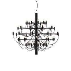 2097/50 (frosted bulbs) Latón Opaco 88cm