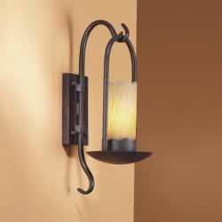 Candela Aplique E27 LED Marrón Óxido