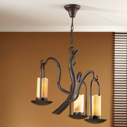 Candela Pendant Lamp 3xE27 LED Brown Oxide