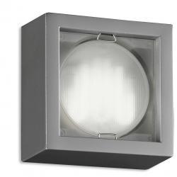 Esferic Wall Lamp Square Fluorescent GX53 9W Chrome
