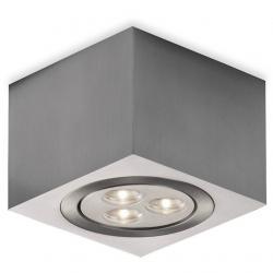 ADO Miniceiling lamp Square 3 LED Aluminium