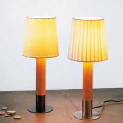 Basica minima Lampe de table Nickel abat-jour Cinta en Brut