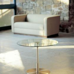 Diana Baja table ø70x52cm Nickel Satin/Glass