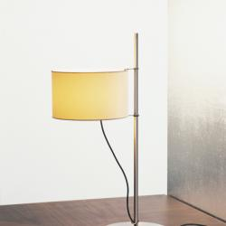 TMD Lampe de table abat-jour en Lino blanc