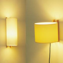 TMM Wall Lamp short connection by clavija lampshade Beige